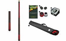 Viking A255 Crimson Stain Pool Cue Stick 18-21 oz Case Playboy 8-Ball Shaper