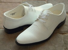NICE ITALIAN STYLE MENS DRESS/CASUAL SHOES COLOR WHITE FINISH EXCELLENT QUALITY