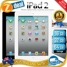 APPLE iPAD 2 16GB 32GB 64GB WIFI BLACK WHITE + 12MTH AUS WTY (NEW SEALED BOX)