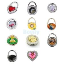 Portable Assorted Rhinestone Folding Bag Purse Handbag Table Hook Hanger Holder
