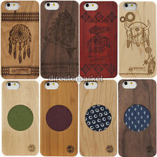 Real Natural Wood Wooden Bamboo Hard Back Case Cover For Apple iPhone 6 6s