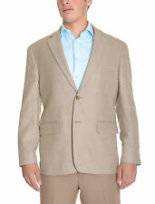 Club Room Classic Fit Light Brown Tan Houndstooth Two Button Blazer Sportcoat