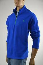 Polo Ralph Lauren Blue Performance Fleece Half-Zip Mock-Neck Pullover Jacket-NWT