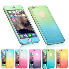 Ultra-thin Full Protect Gradient Color Case Cover for iPhone 5 5S SE 6 6S Plus