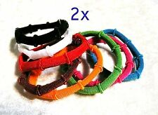 2 x 8 Pc/Set Bamboo Shade Bright Color Hair Elastic Rubber Bands for Women Girls