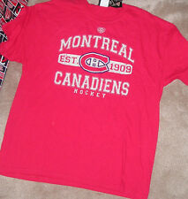 NEW NHL Montreal Canadiens T Shirt Men Old Time Hockey NWT