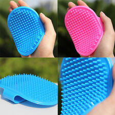 New Pet Rubber Grooming Massage Hair Removal Bath Brush Glove Dog Cat Hair Comb