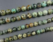 natural african turquoise beads round faceted gemstone beads green 8mm 10mm