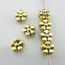 30/120/800pcs Antique Silver/Gold Small Flower Spacer Beads 6mm (Lead-free)
