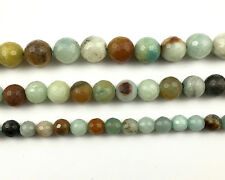 natural gemstone amazonite beads round faceted loose stone beads 6mm 8mm 10mm