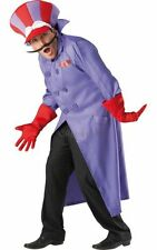 SALE! Adult 80s Wacky Races Dick Dastardly Mens Fancy Dress Costume Party Outfit