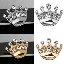 Exquisite 12pcs Crystal Rhinestone Wedding Party Royal Tiara Crown Brooch Pin