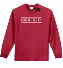 Runner Periodic Table L/S T Shirt Funny Science Workout Marathon Gift Tee Z1
