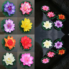 1Pc Artificial Lotus Water lily Floating Flower Garden Pond Tank Plant Ornament