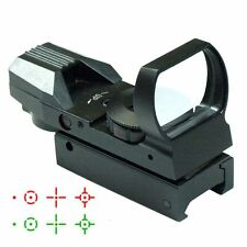 Tactical Reflex Holographic 4 Reticle Red Green Dot Sight 11/20mm Rails Scopes