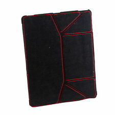 Ultra Slim Micro Fiber Leather PU Case Cover for Apple New iPad/iPad2+BK Stylus