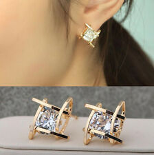 Elegant Hot Square Crystal Lovely Earrings Rhinestone Stud Ear Women Fashion