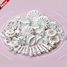 HOT 33pcs Sugarcraft Cake Decorating Fondant Icing Plunger Cutters Tools Mold