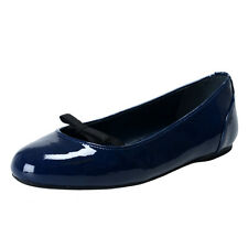 Prada Rossa Navy Blue Patent Leather Ballet Flats Shoes Sz 6 6.5 8 8.5 9 10