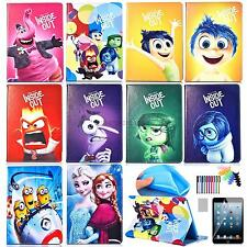 Inside Out Kids Cartoon Case for Apple iPad Tablet PU Leather Flip Stand Cover