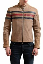 Gianfranco Ferre Men's 100% Leather Brown Full Zip Jacket  Size 2XS XS S L 2XL