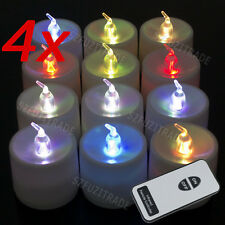 48x Wireless Remote Control LED Candle Tealight Flameless Light For Xmas Party