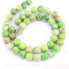 1 Bunch Special Green Stone Gem Loose String Beads Necklace Jewelry DIY 4-12mm