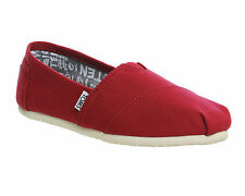 Womens Toms Seasonal Classic Slip On BARBERRY PINK CANVAS Flats