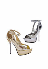 Ellie Shoes 567-LOREN Loren 5'' Metallic Stiletto Heel Platform Sandal