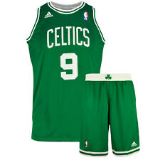 Authentic Adidas Junior NBA Boston Celtics Rondo 9 Basketball Jersey & Shorts