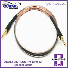 Analysis Plus Pro Oval 12 Guitar Amp Speaker cable  6FT- straight/Angle Plugs