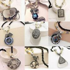 NEW Elegant Gem beads Sweater Chain Animal Long Necklace Of Carve Patterns