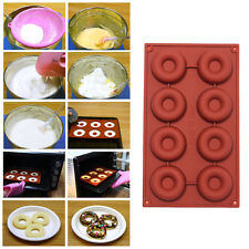 8/18-Cavity Silicone Mould Donut Doughnut Baking Mold Cake Chocolate Candy Soap