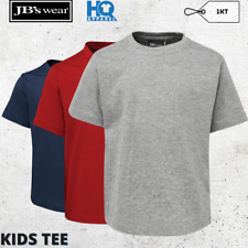 Kids Tee Boys Girls Shirt Cotton Summer Tops Fabric T-Shirt Round Neck Size 2-14
