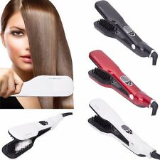 Electric Smart Steam Automatic LCD Temperature Control Brush Hair Straightener