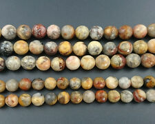 natural yellow crazy agate faceted beads round loose gemstone beads 6mm 8mm 10mm