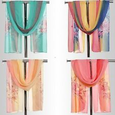 Long Floral Print Fashion Women Ladies Chiffon Neck Scarf Wrap Soft Shawl #LED