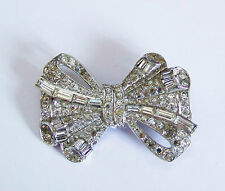 Vintage Diamante Brooch That Splits Into Two Hair Clasps