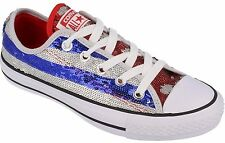 Converse Women Sequin Silver Blue Red Sneakers Sport Shoes Trainers-All Sizes~