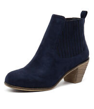 New I Love Billy Riptide Navy Women Shoes Casuals Boots Ankle Boots