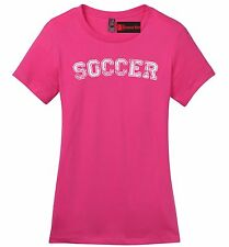 Soccer Ladies Soft T Shirt Sports Ball Football World Cup Goalie Hattrick Tee Z4