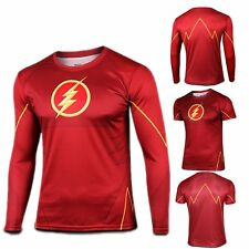 DC The Red Flash Men Women Top T-Shirt Cycling Bicycle Sport Jersey Costume Tee