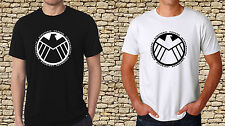 Black T-Shirt Shield Logo Avengers Logo Mens Black TShirt White T-Shirt S to 3XL