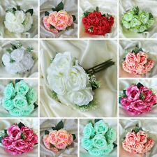 4 Silk ROSES BOUQUETS Flowers Wedding Party Centerpieces Wholesale Discounted