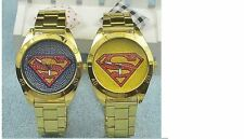 New Superman  Mens Women Stainless Steel Wrist Watch