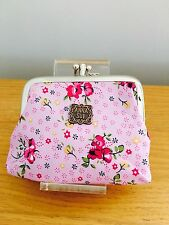Ladies coin purse floral flower vintage pink holiday gift