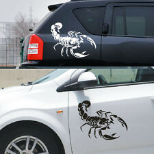 Car Decoration 3D Scorpion Decal Stickers Cool White/Black 4 Sizes Vinyl Sticker