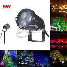 9W 3 LED Landscape Spot Light Garden Wall Yard Path Outdoor Flood Lamp DC 12V
