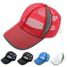 Fashion Athletic Cool Unisex Breathable Mesh Hat Sports Casual Baseball Cap
