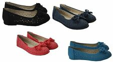 WOMENS LADIES SUMMER FLAT BALLET BALLERINAS DOLLY PUMPS OFFICE WORK CASUAL SHOES